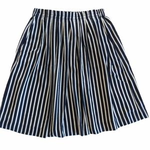 J. Crew Mercantile Striped Pleated Skirt Size 4